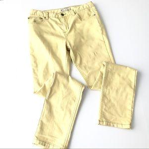 FREE PEOPLE Yellow Skinny Jeans o1